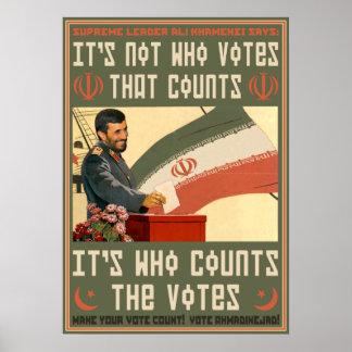 """Voto """"09 de Irán Póster"""