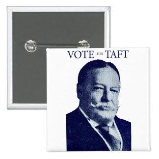 Voto 1912 para Taft Pin Cuadrado