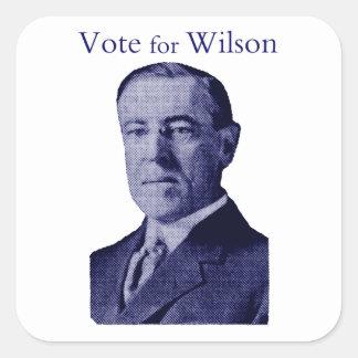 Voto 1912 para Wilson Calcomanía Cuadradas Personalizadas
