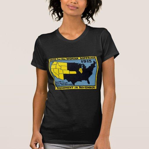 Voto 1915 para el sufragio de la mujer camisetas
