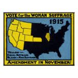 Voto 1915 para el sufragio de la mujer posters