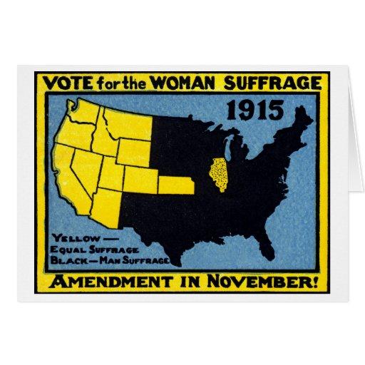 Voto 1915 para el sufragio de la mujer felicitación