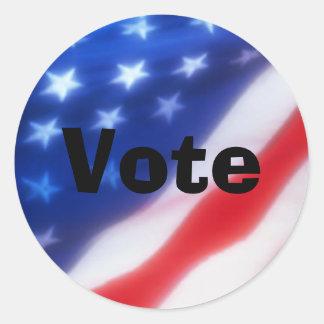 Voto 2008 pegatina redonda