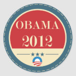 Voto 2012 de Barack Obama Etiquetas Redondas