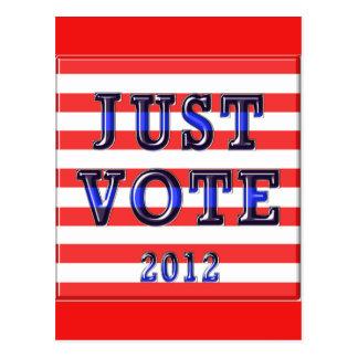 Voto 2012 de las rayas apenas postal