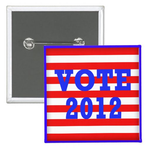 Voto 2012 de las rayas pin
