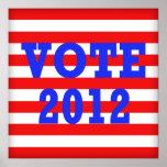 Voto 2012 de las rayas posters