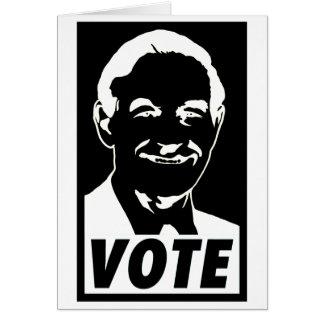 Voto 2012 de Ron Paul Felicitacion