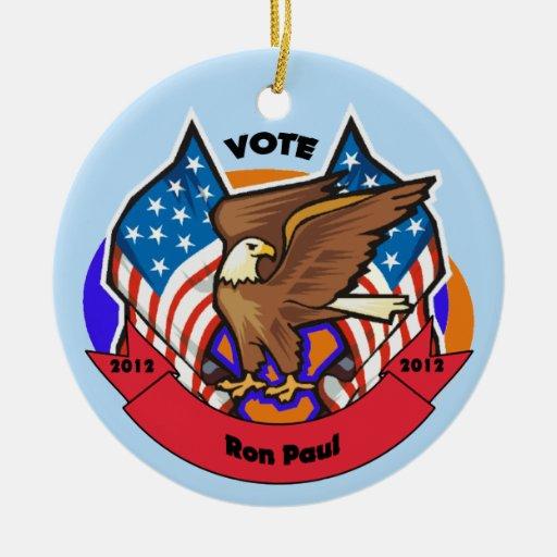 Voto 2012 para Ron Paul Adornos De Navidad