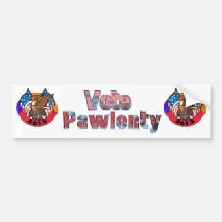 Voto 2012 para Tim Pawlenty Pegatina De Parachoque