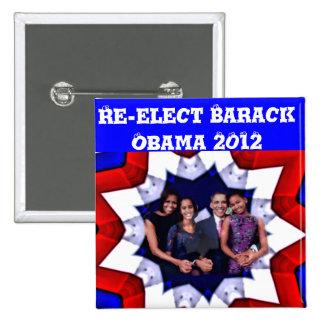 ¡Voto! 2012 Pin Cuadrada 5 Cm