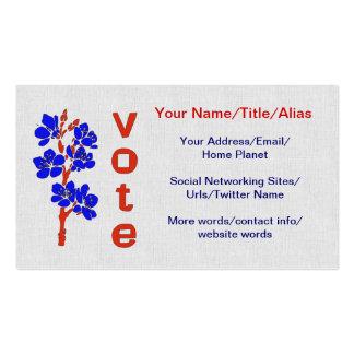 VOTO 2012 PLANTILLAS DE TARJETAS PERSONALES