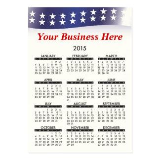 Voto 2015 del calendario de la tarjeta de visita