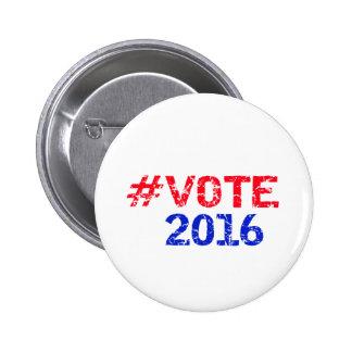 Voto 2016 Hashtag apenado Pin
