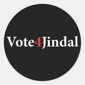 Voto 4 Jindal Pegatina Redonda