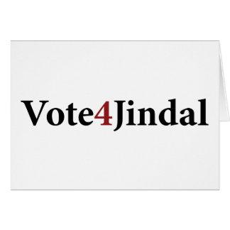 Voto 4 Jindal Tarjeta De Felicitación