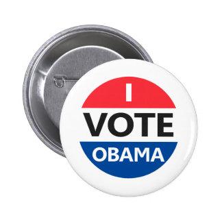Voto a Obama Pin Redondo De 2 Pulgadas