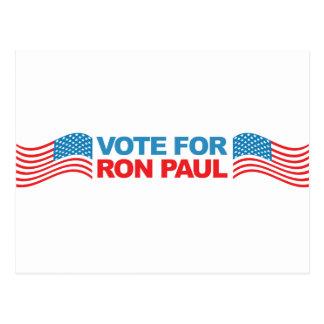 Voto a Ron Paul - política 2012 del presidente de  Tarjeta Postal