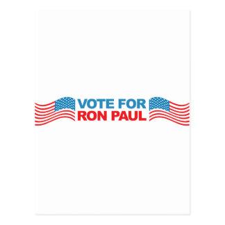 Voto a Ron Paul - política 2012 del presidente de  Tarjetas Postales
