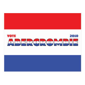 Voto Abercrombie 2010 elecciones blanco y azul Postal
