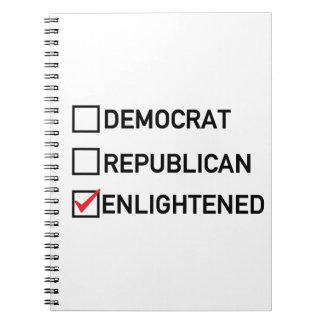 Voto aclarado libreta espiral