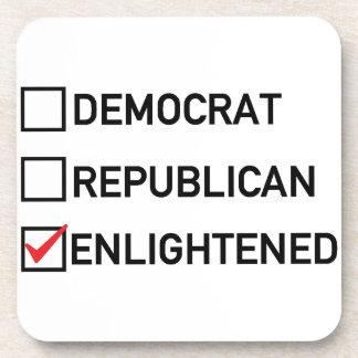 Voto aclarado posavasos