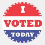 voto adesivos em formato redondos