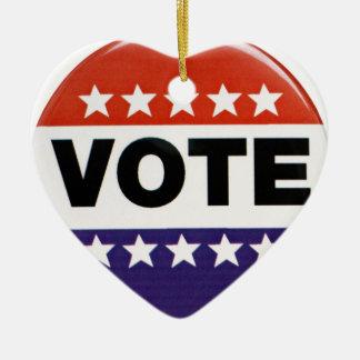 ¡Voto! Adorno Navideño De Cerámica En Forma De Corazón