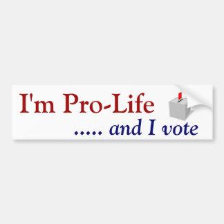 Voto antiabortista pegatina para auto