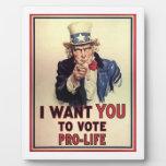 Voto antiabortista placas con fotos