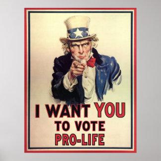 Voto antiabortista póster