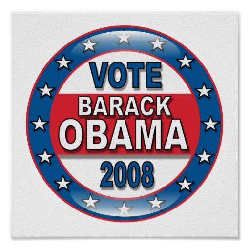 Voto Barack Obama 2008 Impresiones