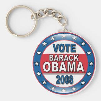 Voto Barack Obama 2008 Llaveros