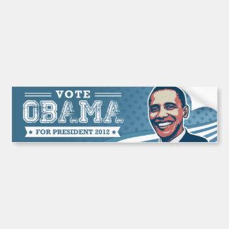 Voto Barack Obama para el presidente pegatina para Pegatina De Parachoque
