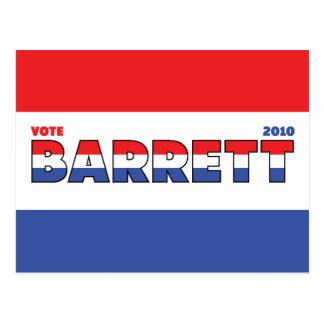 Voto Barrett 2010 elecciones blanco y azul rojos Postal