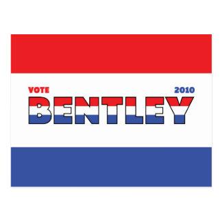 Voto Bentley 2010 elecciones blanco y azul rojos Postales