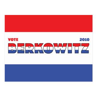 Voto Berkowitz 2010 elecciones blanco y azul rojos Tarjetas Postales