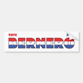 Voto Bernero 2010 elecciones blanco y azul rojos Etiqueta De Parachoque