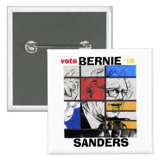 Voto Bernie '16 Pin Cuadrado
