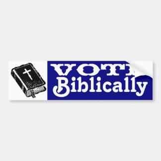 Voto bíblico pegatina para auto