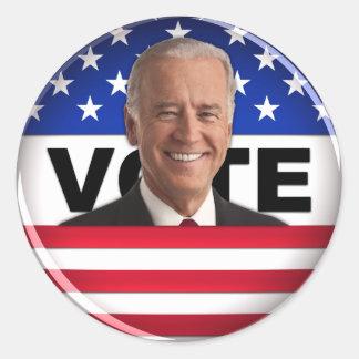 Voto Biden Etiqueta Redonda