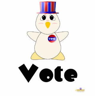 Voto blanco de votación Huggable del pollo Escultura Fotográfica