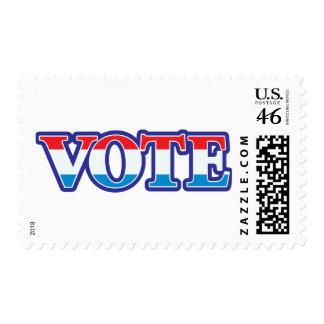 Voto blanco y azul rojo