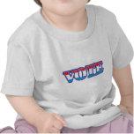 Voto blanco y azul rojo camisetas