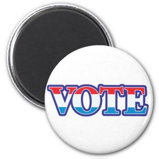 Voto blanco y azul rojo iman