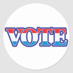 Voto blanco y azul rojo pegatina