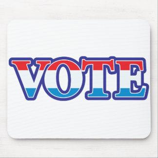 Voto blanco y azul rojo tapete de raton