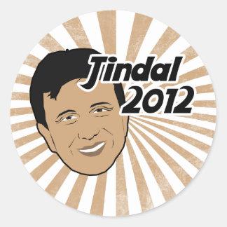 Voto Bobby Jindal 2012 Pegatina Redonda