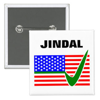 Voto Bobby Jindal para el presidente 2016 Pin Cuadrada 5 Cm
