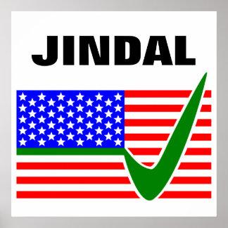 Voto Bobby Jindal para el presidente 2016 Póster